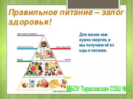 План проведения Месячника «Организация правильного питания»